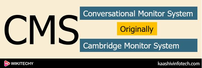 Conversational Monitor System
