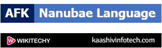 Nanubae Language