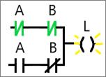 Ladder Diagram of XOR circuit