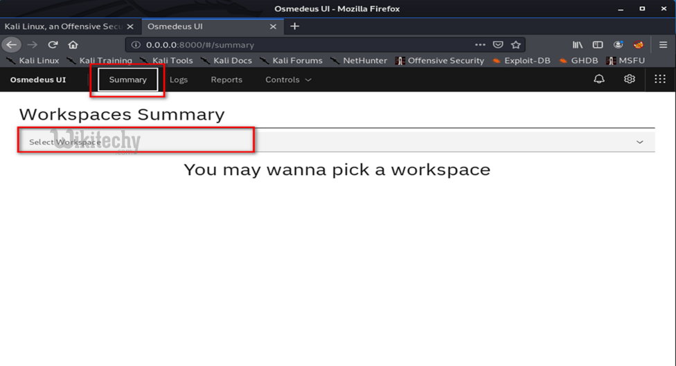 click-summary-and-select-workspace