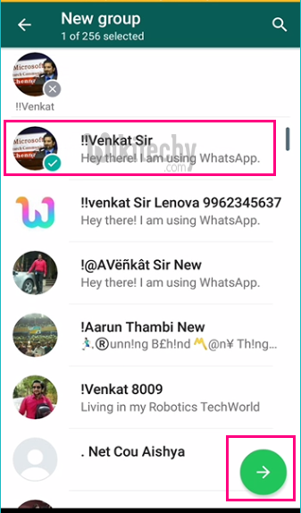 Create whatsapp group link