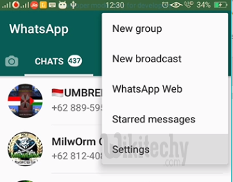 how to unblock yourself on whatsapp settings