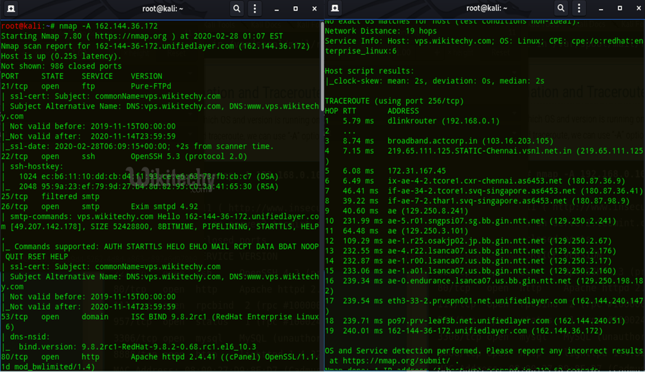 output of information and traceroute.png